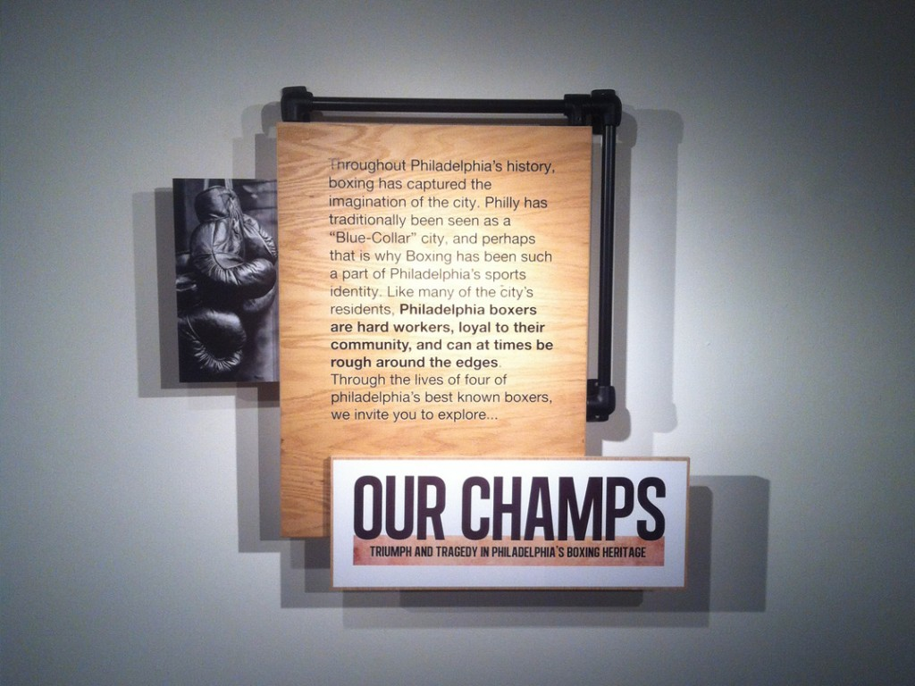 """Our Champs"" signage prototype"