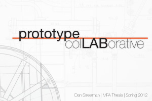 Graduate Thesis: prototype colLABorative